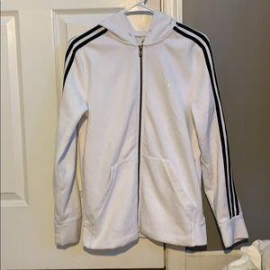 White Adidas Zippered Jacket